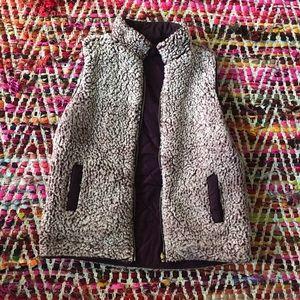 Altar'd State Reversible Purple Sherpa Vest